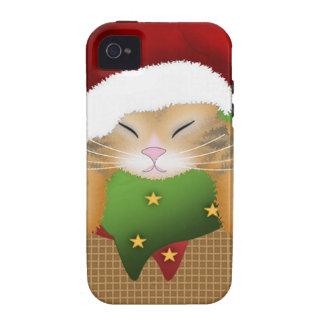 Gatito del navidad iPhone 4/4S carcasa