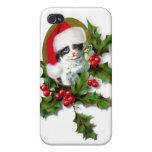 Gatito del navidad iPhone 4/4S funda