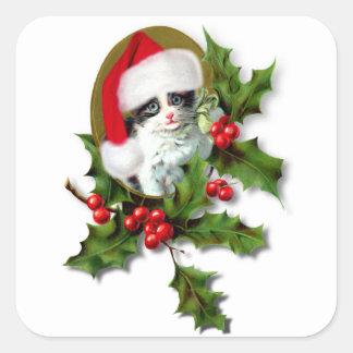 Gatito del navidad pegatina