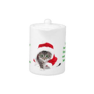Gatito del navidad - tetera