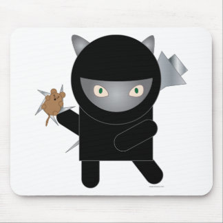 gatito del ninja tapetes de ratón