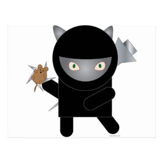 gatito del ninja tarjeta postal