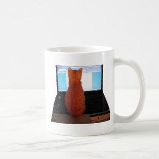 Gatito del ordenador taza
