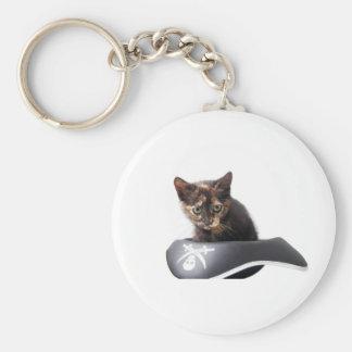 Gatito del pirata informático llavero personalizado