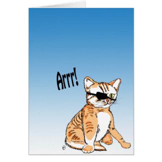 Gatito del pirata tarjeta de felicitación