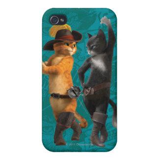 Gatito del Puss del CG iPhone 4 Cárcasas