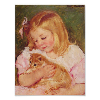 gatito del sara_holding_her póster