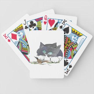 Gatito del smoking y una barra negra cartas de juego