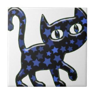 Gatito del viaje azulejo cuadrado pequeño