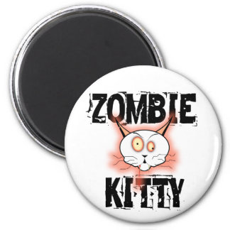 Gatito del zombi imán redondo 5 cm