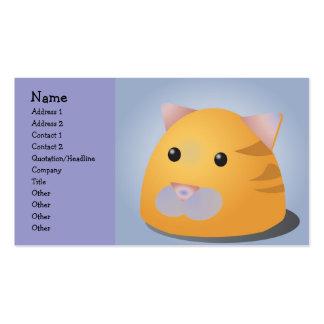 Gatito delicioso plantilla de tarjeta de visita