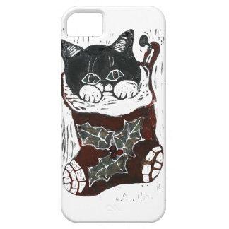 Gatito dentro del navidad que almacena - impresión iPhone 5 carcasa