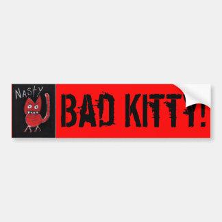 ¡gatito desagradable, malo! pegatina para auto