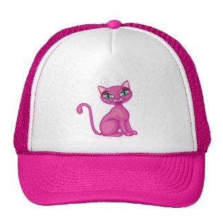 Gatito descarado rosado gorras