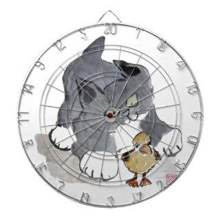 Gatito Ducky y gris de Lil Tablero Dardos