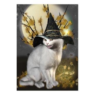 Gatito el gato mágico de las brujas tarjeta personal
