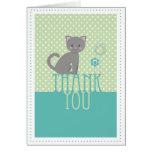 Gatito - el verde le agradece cardar tarjetas