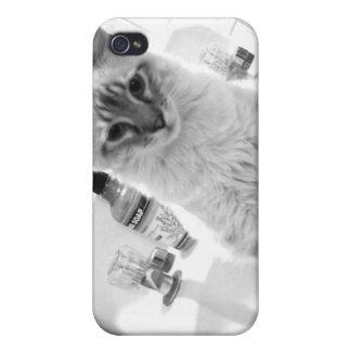 gatito en caso del teléfono del fregadero iPhone 4 carcasa