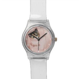 Gatito en el bolsillo 2 relojes de pulsera