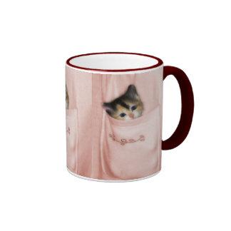 Gatito en el bolsillo 2 tazas