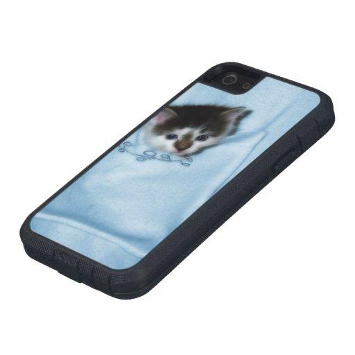 Gatito en el bolsillo iPhone 5 funda