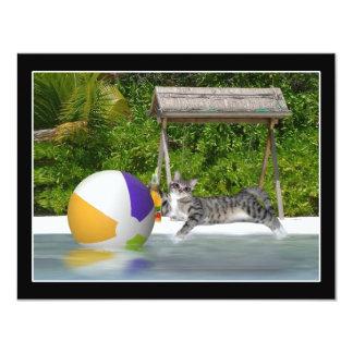 """Gatito en el lado del lago invitación 4.25"""" x 5.5"""""""
