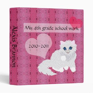 Gatito en el rosa, carpeta de los recuerdos del sc