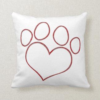 Gatito en forma de corazón del perrito del gato de cojines