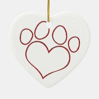 Gatito en forma de corazón del perrito del gato de ornamentos de reyes magos