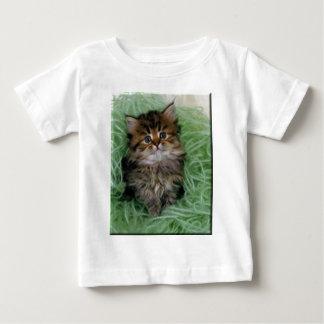 Gatito en hilado verde poleras