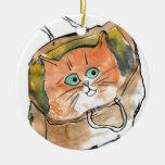 Gatito en un bolso de compras ornato