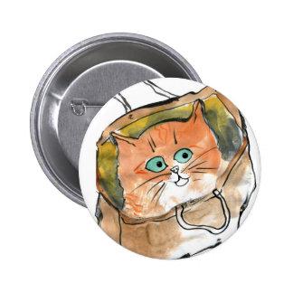 Gatito en un bolso de compras pins