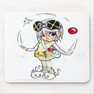 Gatito enojado Mousepad de Chibi