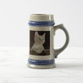 Gatito esperanzado jarra de cerveza