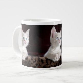 Gatito esperanzado taza grande