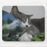 Gatito feliz alfombrillas de raton