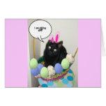 Gatito feliz de Pascua Tarjeton