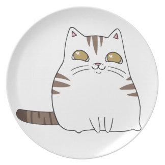 Gatito feliz plato para fiesta