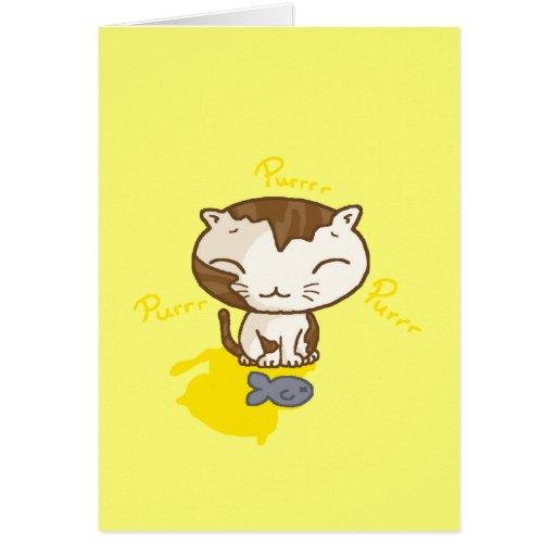 Gatito feliz tarjeta