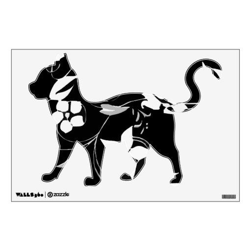 Gatito floral negro