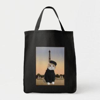 Gatito francés bolsa tela para la compra