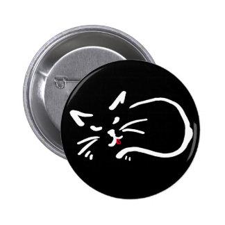 gatito fresco pin redondo de 2 pulgadas