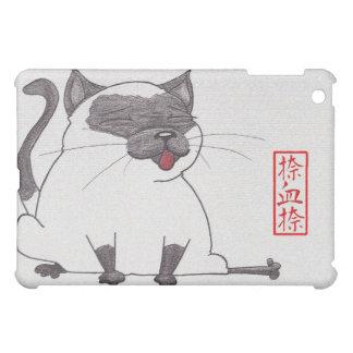 Gatito gordo siamés en caso del iPad del zen mini