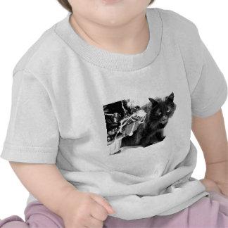 Gatito gris del navidad I Camiseta