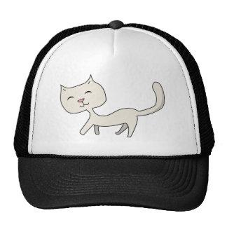 Gatito gris flaco lindo gorras