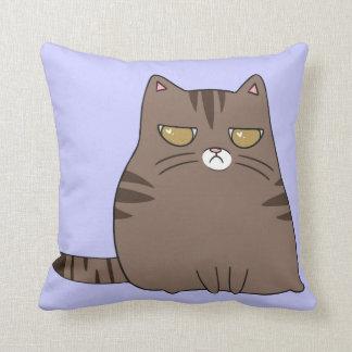 Gatito gruñón almohadas