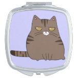 Gatito gruñón espejo compacto