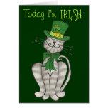 Gatito irlandés - tarjeta del día de St Patrick fe