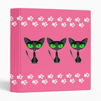 """Gatito Kat - carpeta rosada 1"""" del gatito de la pa"""