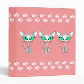 Gatito Kat - carpeta rosada del gatito de la pata